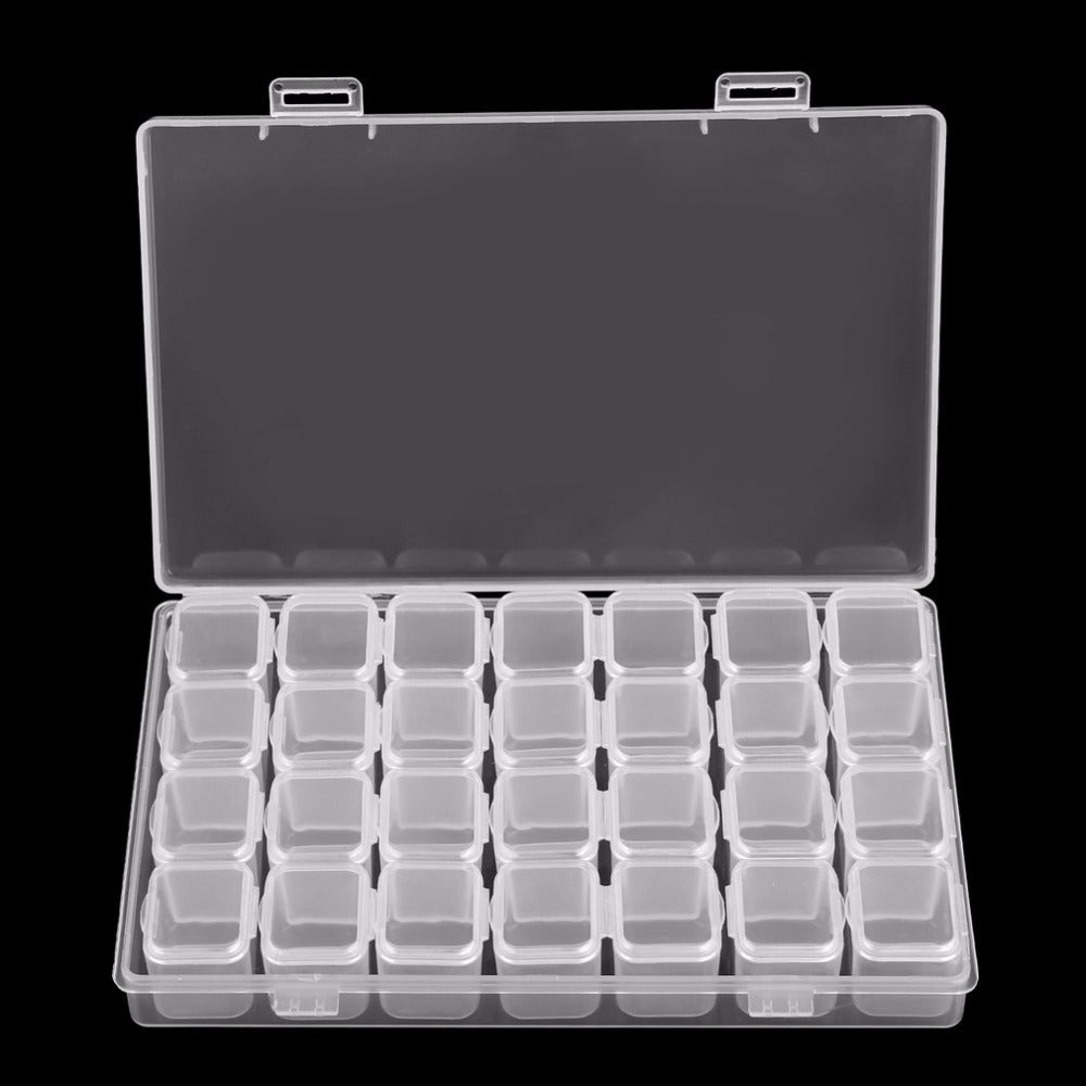 28 Slots Decoration Plastic Bead Organizer Jewelry Box