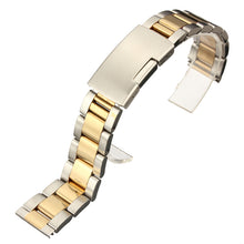 Load image into Gallery viewer, 18mm 20mm 22mm 24mm Gold&Silver Stainless Steel Watch Band