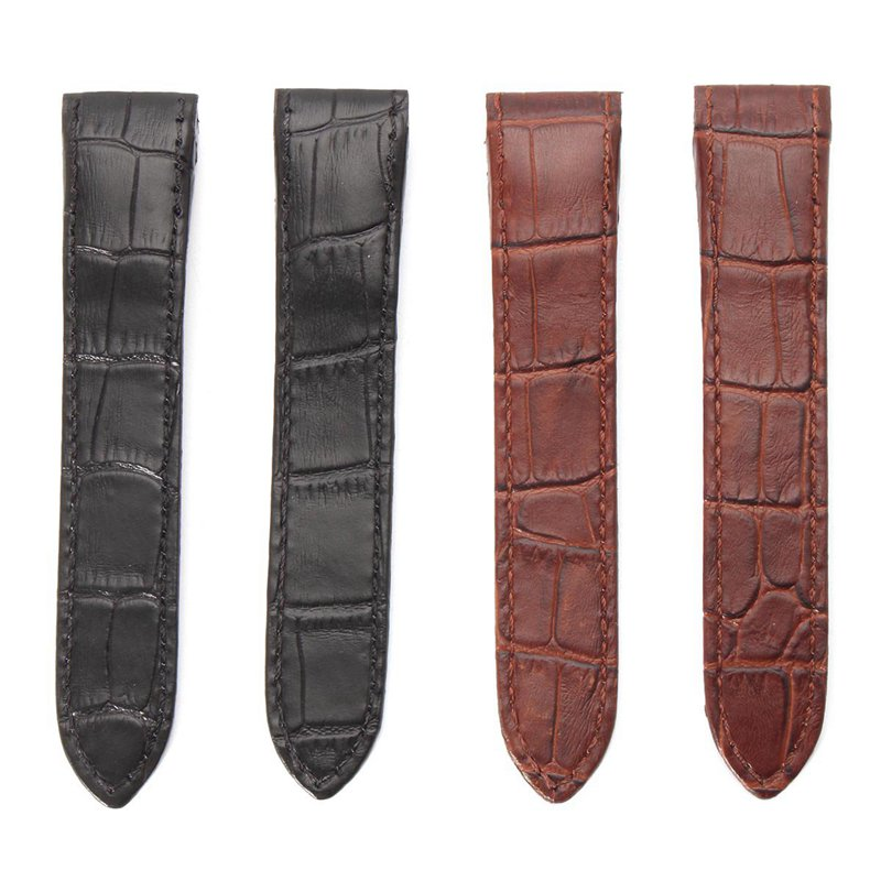 20mm Soft Leather Watch Band Strap With Buckle Pin