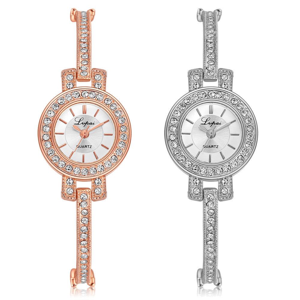 LVPAI P117 Fashion Style Crystal Elegant Women Wrist Watch