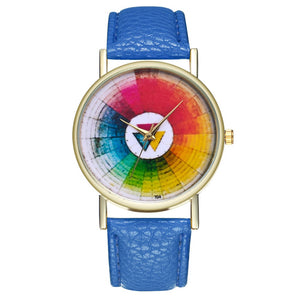 Vintage Color Wheel Color Board Women Quartz Watch