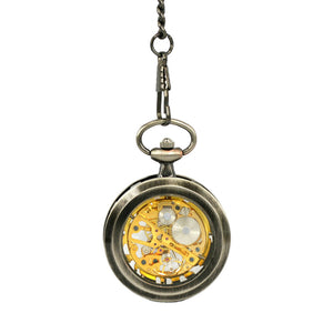 JIJIA JX006 Coverless Hollow Mechanical Pocket Watch