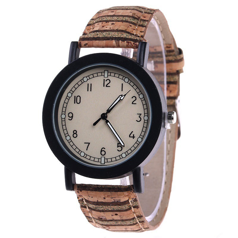 Fshion Women Watch Color Dial Retro Quartz Watch
