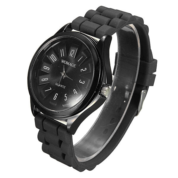 Casual Chic Chrysanthemum Silicone Strap Analog Wrist Watch