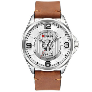 CURREN 8305 3D Number Design Date Display Men Wrist Watch