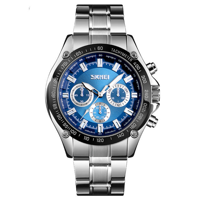 SKMEI 1366 Business Stainless Steel Waterproof Quartz Watch
