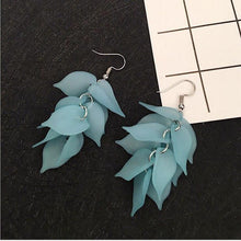 Load image into Gallery viewer, Ear Drop Earring Leaves The Morning Glory Tassels Dangle