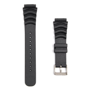 20MM/22MM Black Sport Scuba Diver Rubber Watch Band Strap