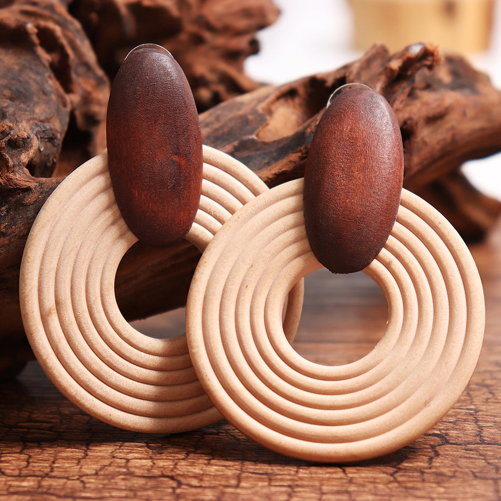 Handmade Ethnic Round Earrings