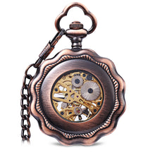 Load image into Gallery viewer, JIJIA JX013 Six Petals  Alloy Chic Mechanical Pocket Watch