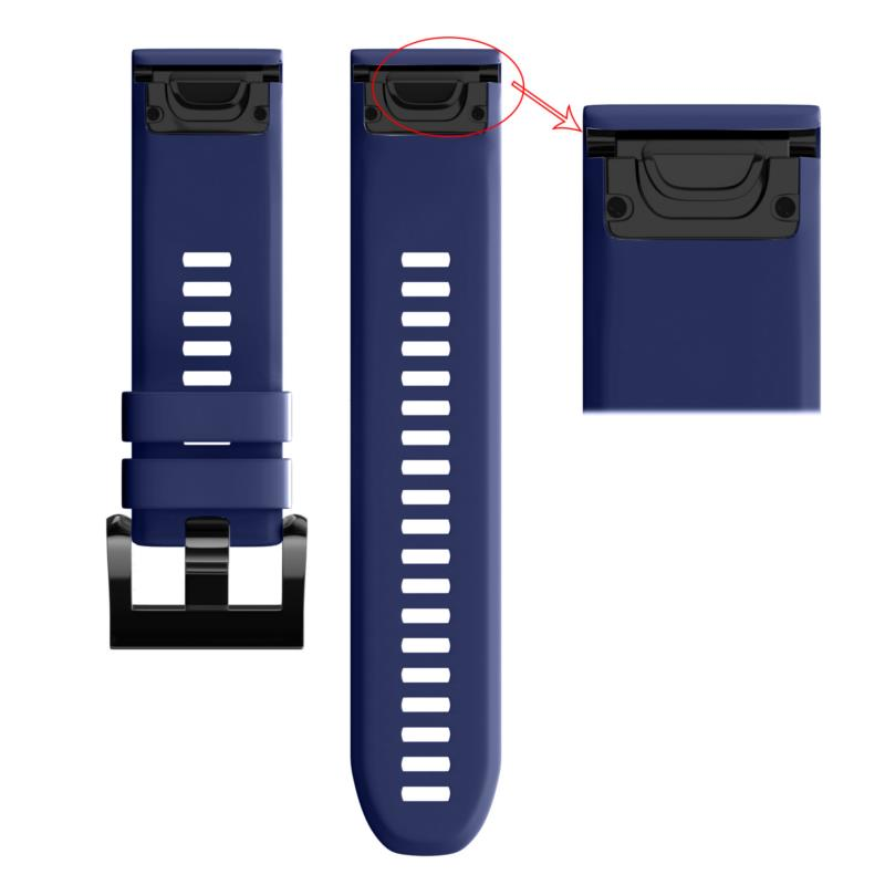 22mm Silicone Replacement Strap Watch Band for Garmin Fenix 5/Forerunner 935