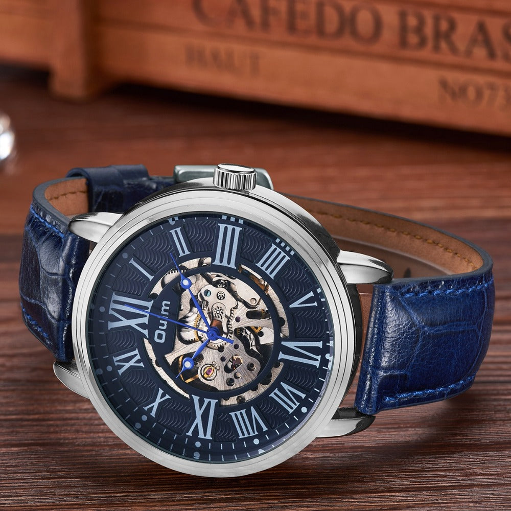 OULM 3688 Genuine Leather Automatic Mechanical Watch