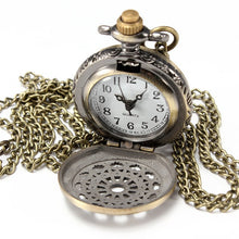 Load image into Gallery viewer, DEFFRUN Vintage Steam Punk Quartz Bronze Pocket Watch