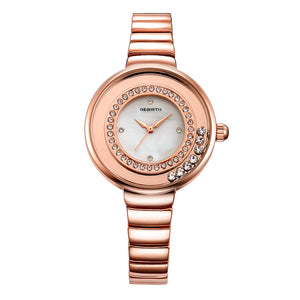 REBIRTH RE083 Crystal Shining Full Steel Women Watch