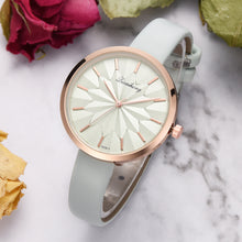 Load image into Gallery viewer, Colorful Leather Strap Simple Dial Women Quartz Watch