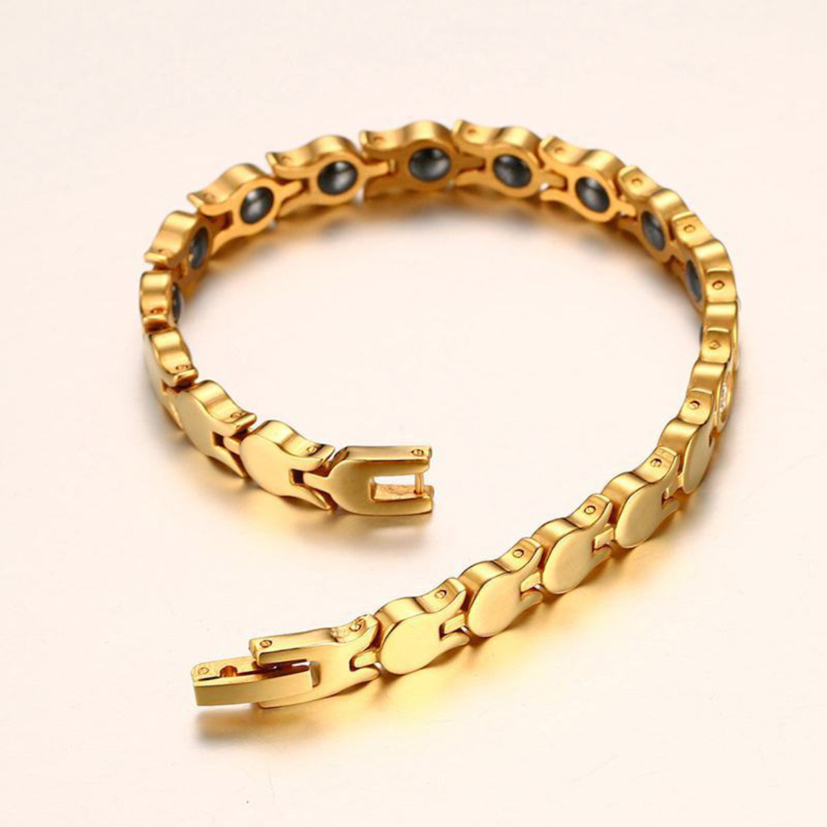 Fashion Magnetic Therapy Gold Chain Bracelet
