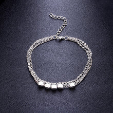 Load image into Gallery viewer, Trendy Sterling Silver Plated  Beads Anklet