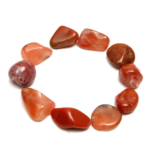 50g Natural Red Agate Gravel Onyx Quartz Stone Minerals Specimens DIY Findings Design