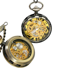 Load image into Gallery viewer, JIJIA JX006 Coverless Hollow Mechanical Pocket Watch