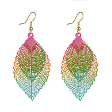 Load image into Gallery viewer, Ethnic Statement Colorful Double Layer Leaf Drop Earring (As Picture)