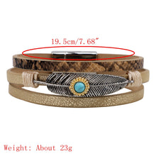 Load image into Gallery viewer, Vintage Leather Bangle Bracelet
