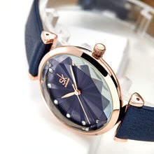 Load image into Gallery viewer, SHENGKE SK K0099 Crystal Radiation Dial Women Quartz Watch