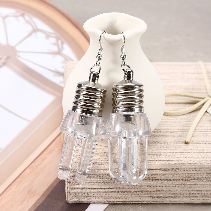 Cute LED Bulb Flashing Earrings Party Accessories for Women