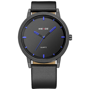 WEIDE WD001 Casual Style Luxury Leather Strap Quartz Watch