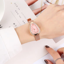Load image into Gallery viewer, Crystal Case Triangle Dial Mesh Belt Women Quartz Watch
