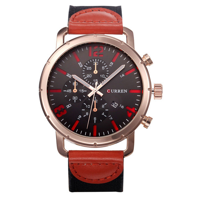 CURREN 8194 Date Display Casual Style Men Wrist Watch