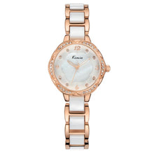 Load image into Gallery viewer, KIMIO KW6016M Fashion Women Quartz Watch Luxury Rhinestones Ceramic Watch