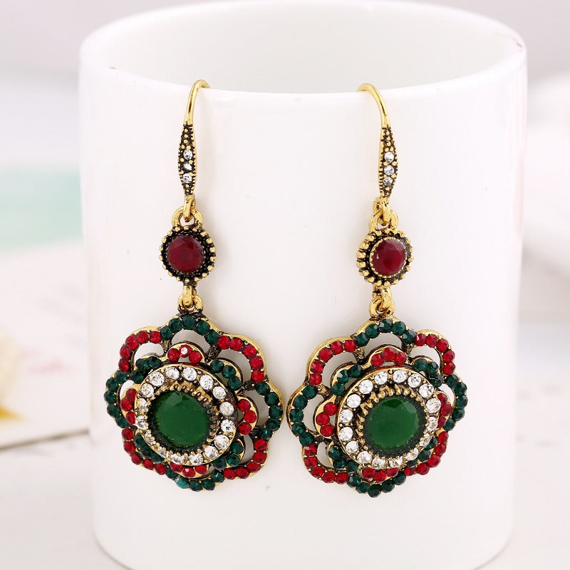 Bohemian Diamond Flower Ear Drop