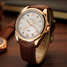 Load image into Gallery viewer, YAZOLE 325 Men Crystal Luminous Leather Band Quartz Watch