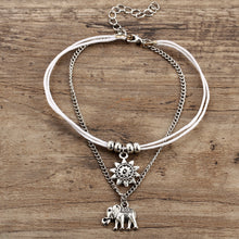 Load image into Gallery viewer, Vintage Multilayer Elephant Sun Charm Anklet Bohemian