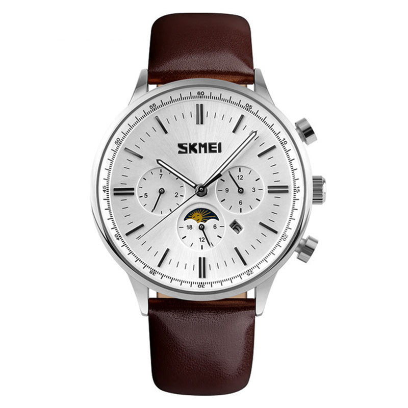 SKMEI 9117 Business Style Waterproof Men Wrist Quartz Watch