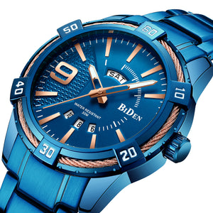 BIDEN BD0137 Waterproof Business Style Quartz Watch