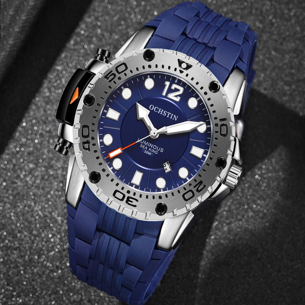OCHSTIN GQ6124 Waterproof Outdoor Silicone Quartz Watch