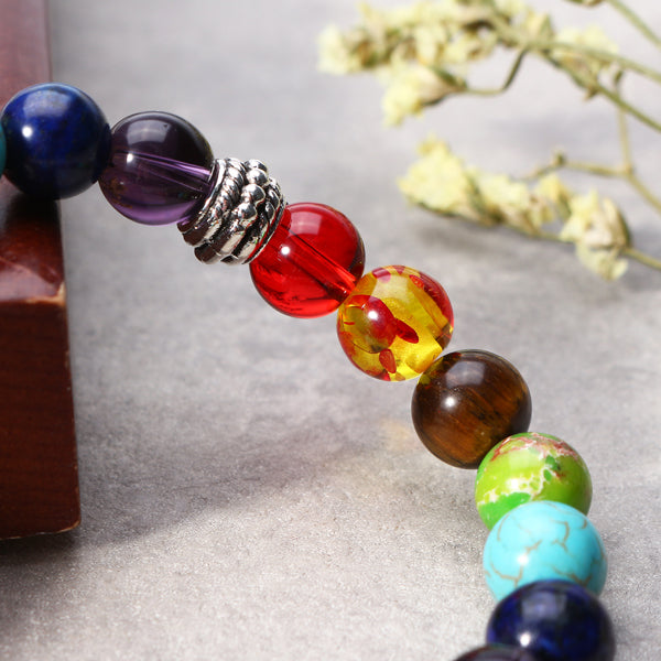 8mm Balance Beads Balls Yoga Reiki Prayer Gemstone Bracelet