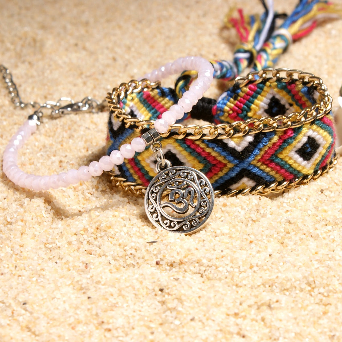 Ethnic Double Layer Anklets