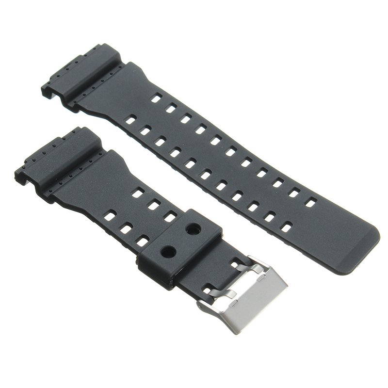22mm Replacement Frosted Silicone Rubber Watch Band Strap