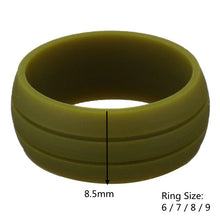Load image into Gallery viewer, 8.5MM Trendy Colorful Environmental Silicone Unisex Ring