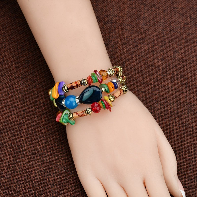 Retro Multi Layer Beaded Bracelet
