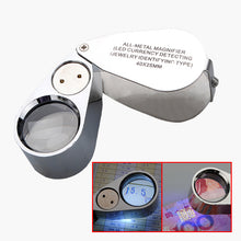 Load image into Gallery viewer, NEW 40X Metal Jeweller LED Microscope Magnifier Loupe  UV