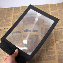 Load image into Gallery viewer, A4 Full Page 305x195mm Assisted reading 3X Magnifying Magnifier