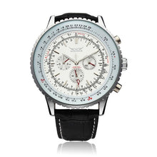 Load image into Gallery viewer, JARAGAR Automatic Mechanical Big Dial Multi Number Precise Watch (White)