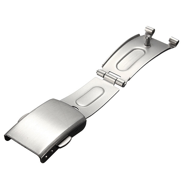 Metal Watch Band Strap Button Stainless Steel Fold Over Buckle Clasp