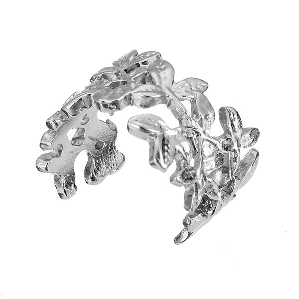 3pcs Hollow Out Leaves Band Midi Knuckle Finger Rings Set Gold Plated