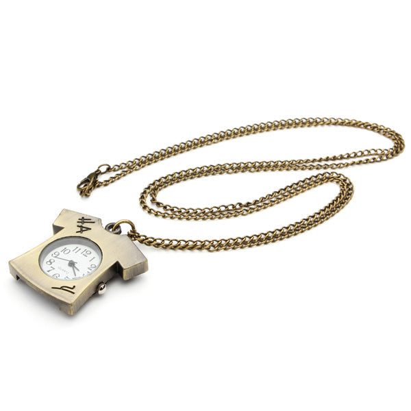 DEFFRUN Vintage Bronze Lovely T-shirt Design Pocket Watch