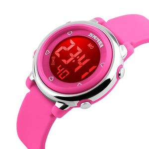 SKMEI 1100 Fashion Children Digital Watch LED Alarm Backlight Boys Girls Sport Watch