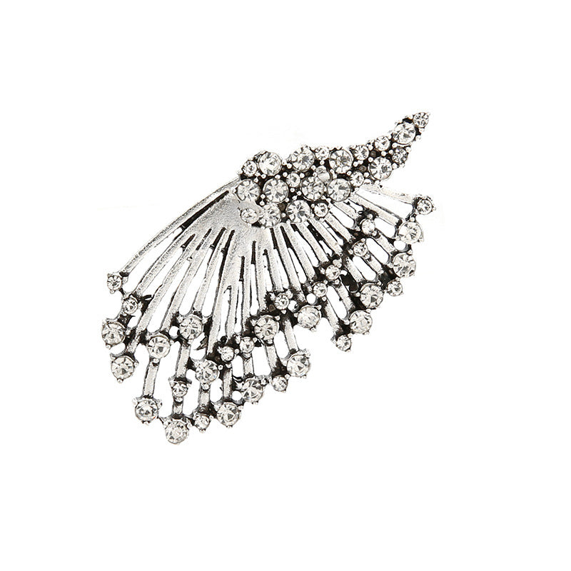 1Pcs Alloy Multi-drill Asymmetrical Earring Multilayer